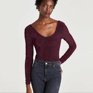 Zara Metallic Bodysuit